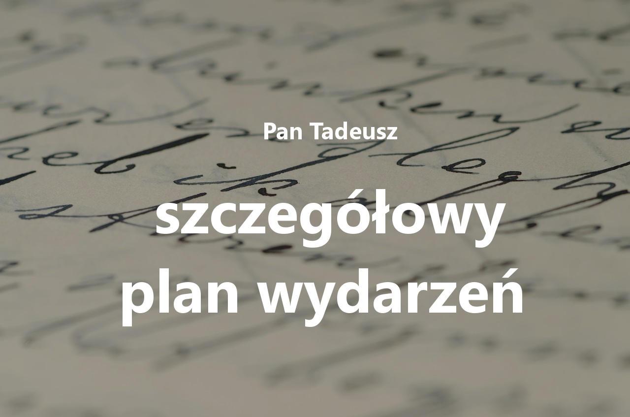 Szczegółowy plan wydarzeń Pana Tadeusza